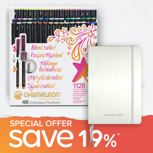 Special Offer Bundle - 48 Chameleon Fineliners & Bullet Journal