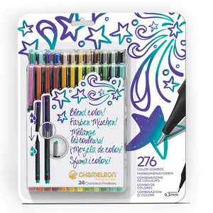 Chameleon Fineliners 24 pack Bold Colors front packaging.