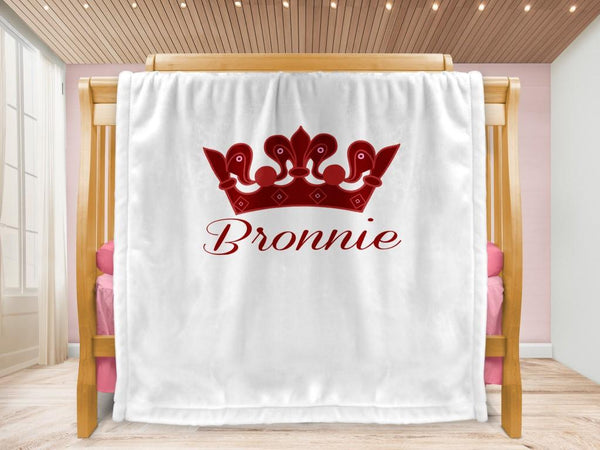 Cot blanket - Crown & Name