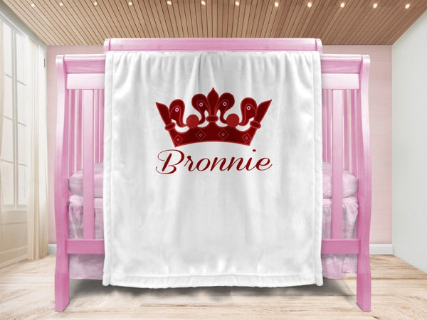 Baby blanket - Crown & Name