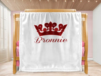 Cot blanket - Crown & Name - MeeM Store