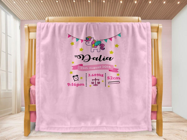 Cot blanket - Unicorn Keepsake - MeeM Store