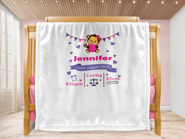 Cot blanket - Monkey Keepsake