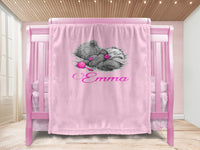 Baby blanket - Teddy & Name - MeeM Store
