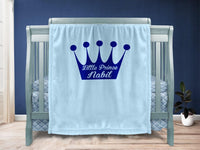 Baby blanket - Crown & Name - MeeM Store