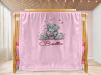 Cot blanket - Love Bear & Name - MeeM Store