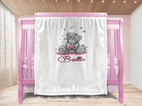 Baby blanket - Love Bear & Name
