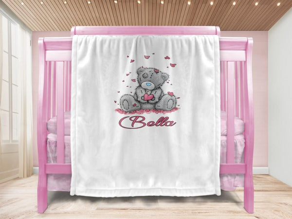 Baby blanket - Love Bear & Name - MeeM Store