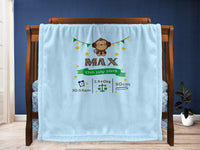 Cot blanket - Monkey Keepsake - MeeM Store