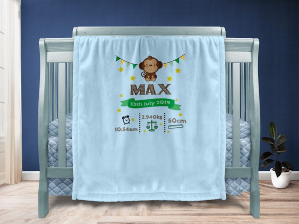 Baby blanket - Monkey Keepsake