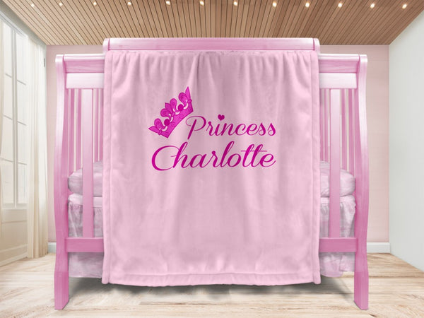 Baby blanket - Lil Crown & Name - MeeM Store