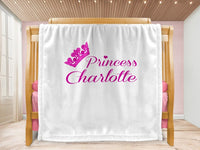 Cot blanket - Lil Crown & Name - MeeM Store