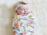 2pc Newborn Swaddle Wrap Sleeping Bag Set