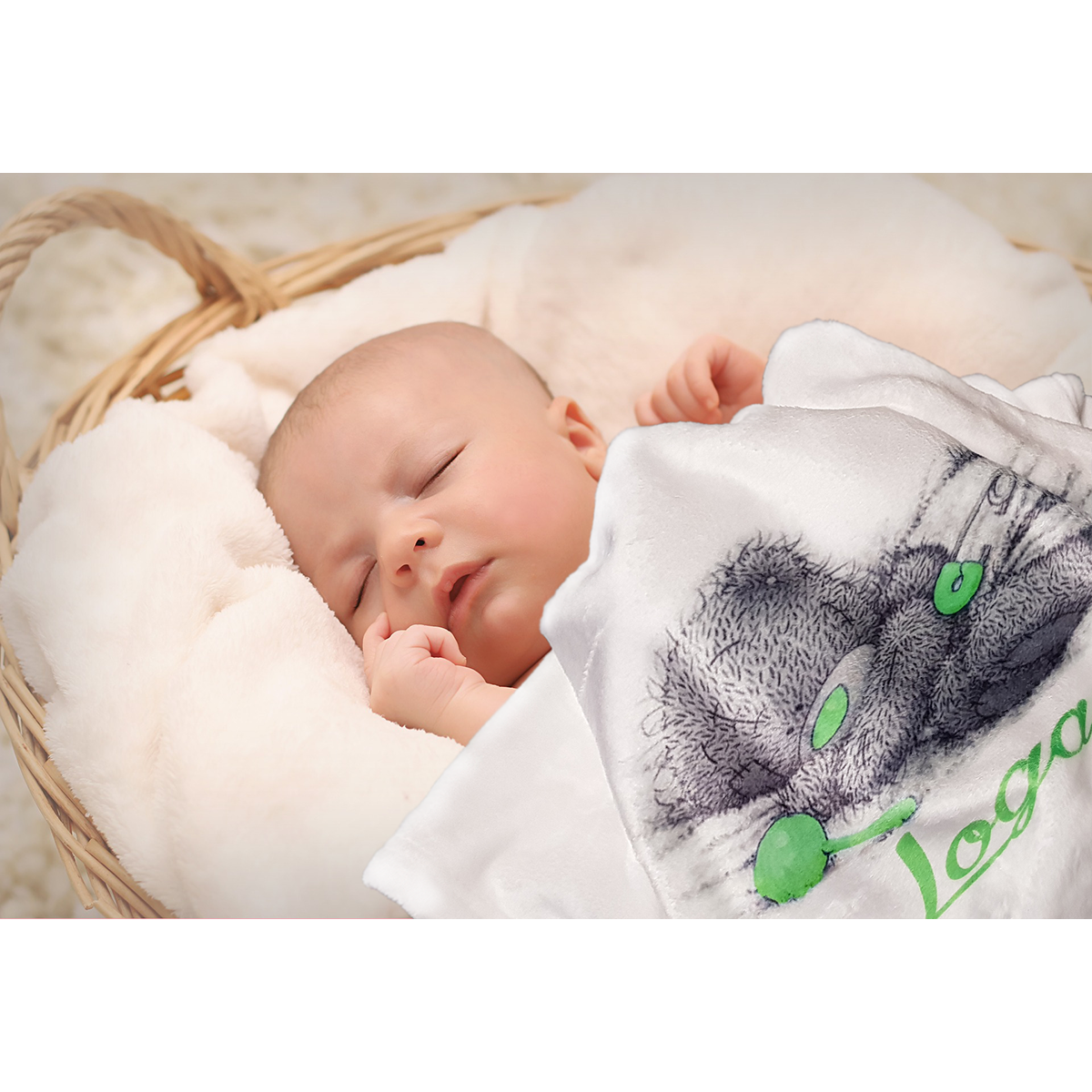 Personalised baby blanket - White - MeeM Store