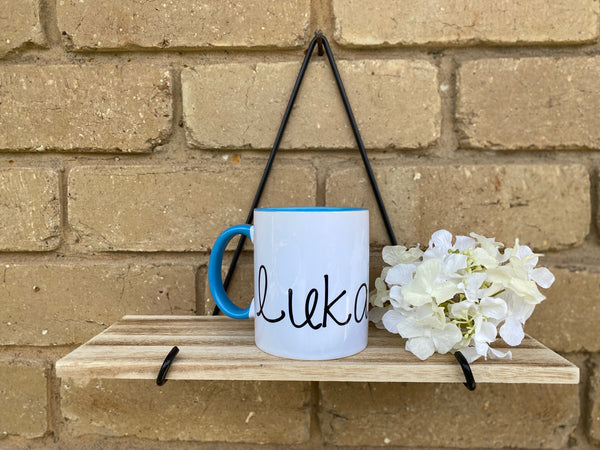 Blue Personalised Name Mug