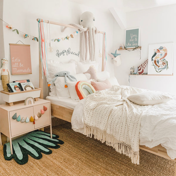 Magical Mermaid Under the sea bedroom decor