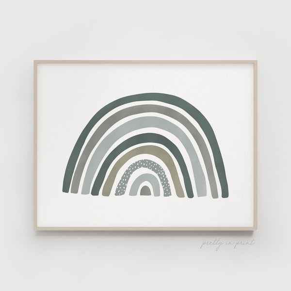 Rainbow Print | Rainbow Nursery Decor | Green