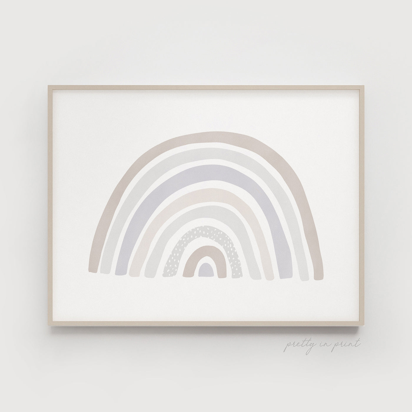 Rainbow Print | Rainbow Nursery Decor | Pastel