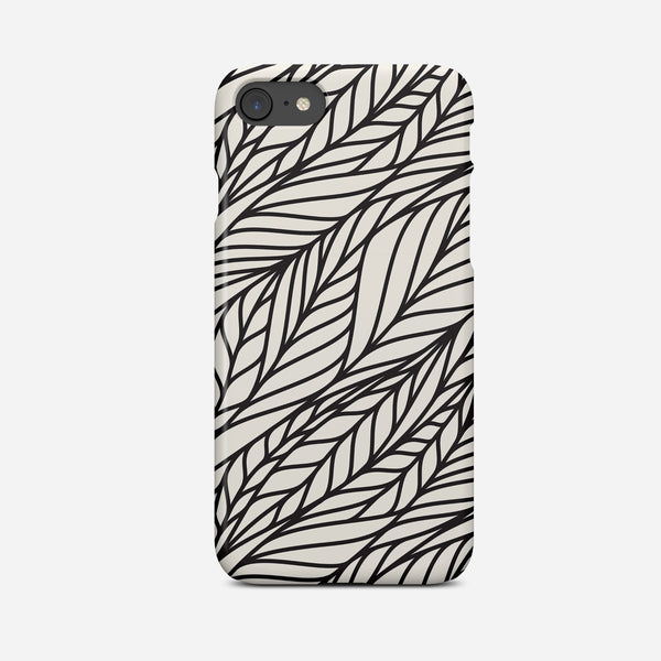 Black & White Abstract Art Phone Case - Pretty in Print Art