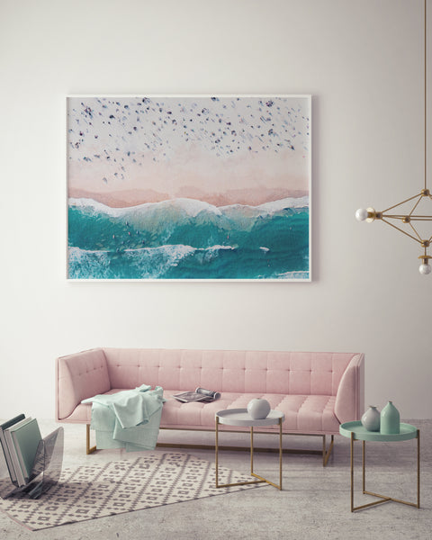 Aerial Beach View | Watercolour Version - Pretty in Print Art