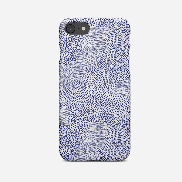 Arty Blue Abstract Art Phone Case - Pretty in Print Art