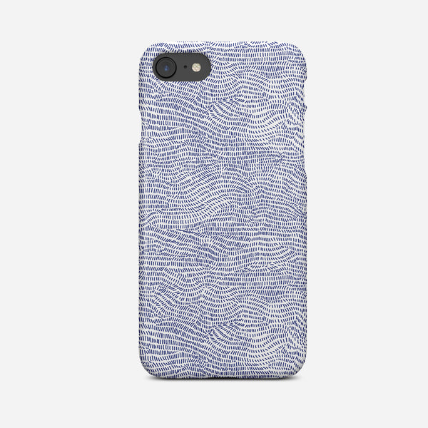 Blue Dotty Abstract Art Phone Case - Pretty in Print Art