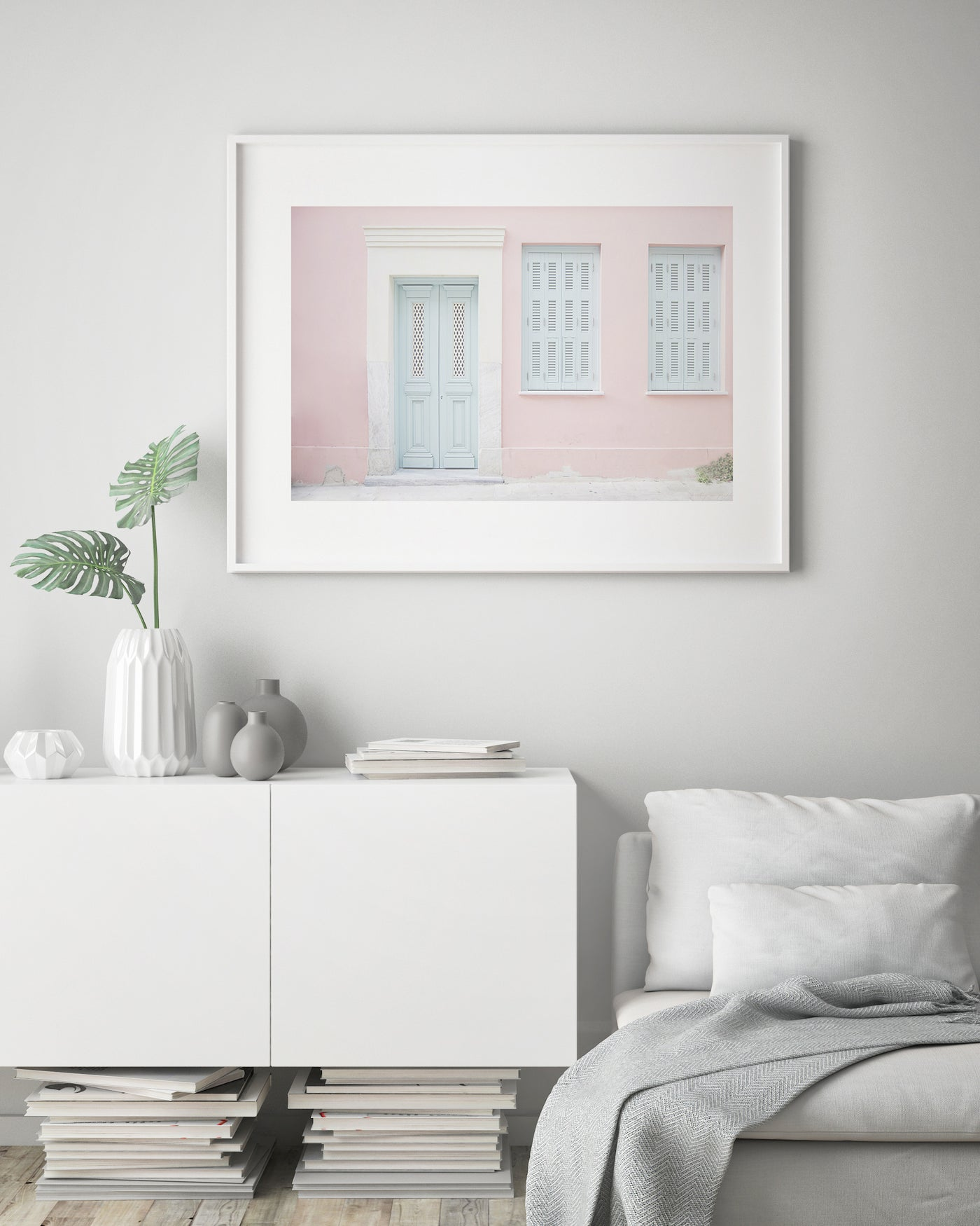 Pink House | Wanderlust Travel Poster - Pretty in Print Art