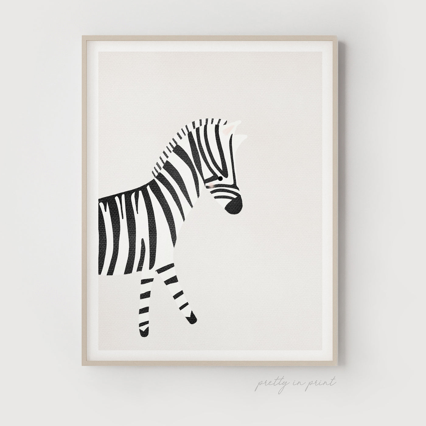 Zebra Illustration | Nursery Decor | Animal Nursery Print - Pretty in Print Art