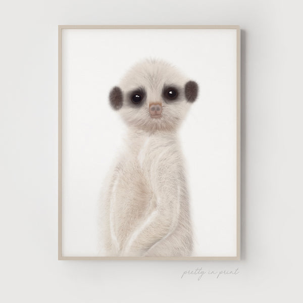 Meerkat Wall Art | Cute Meerkat Children's Decor