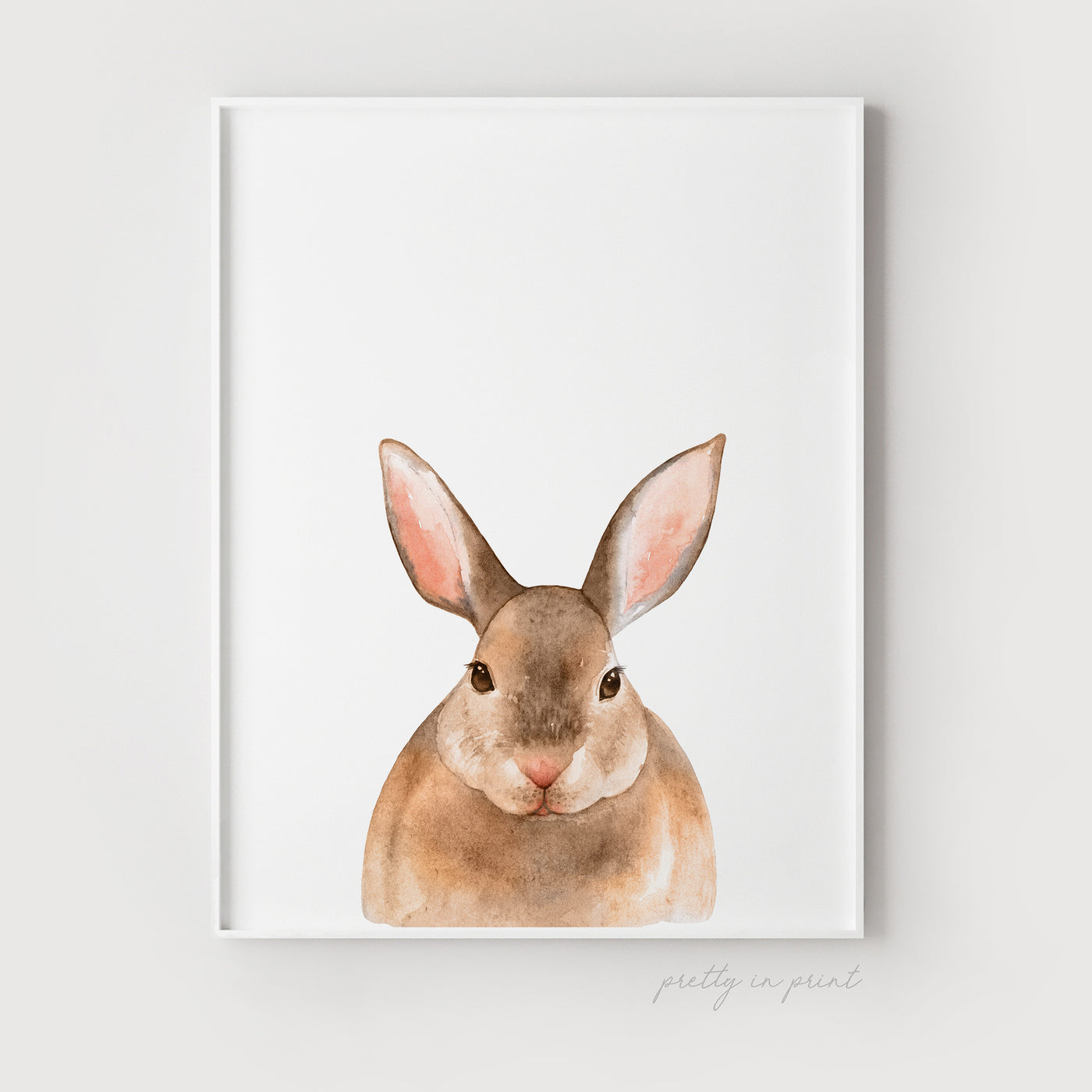 Nursery Rabbit Print - Non-Floral Version - Pretty in Print Art