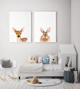 Nursery Deer Print - Non-Floral Version - Pretty in Print Art