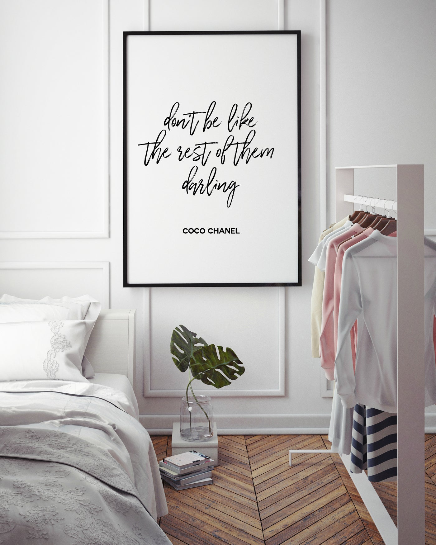 Don't be like the rest of them darling | Fashion Quote - Pretty in Print Art