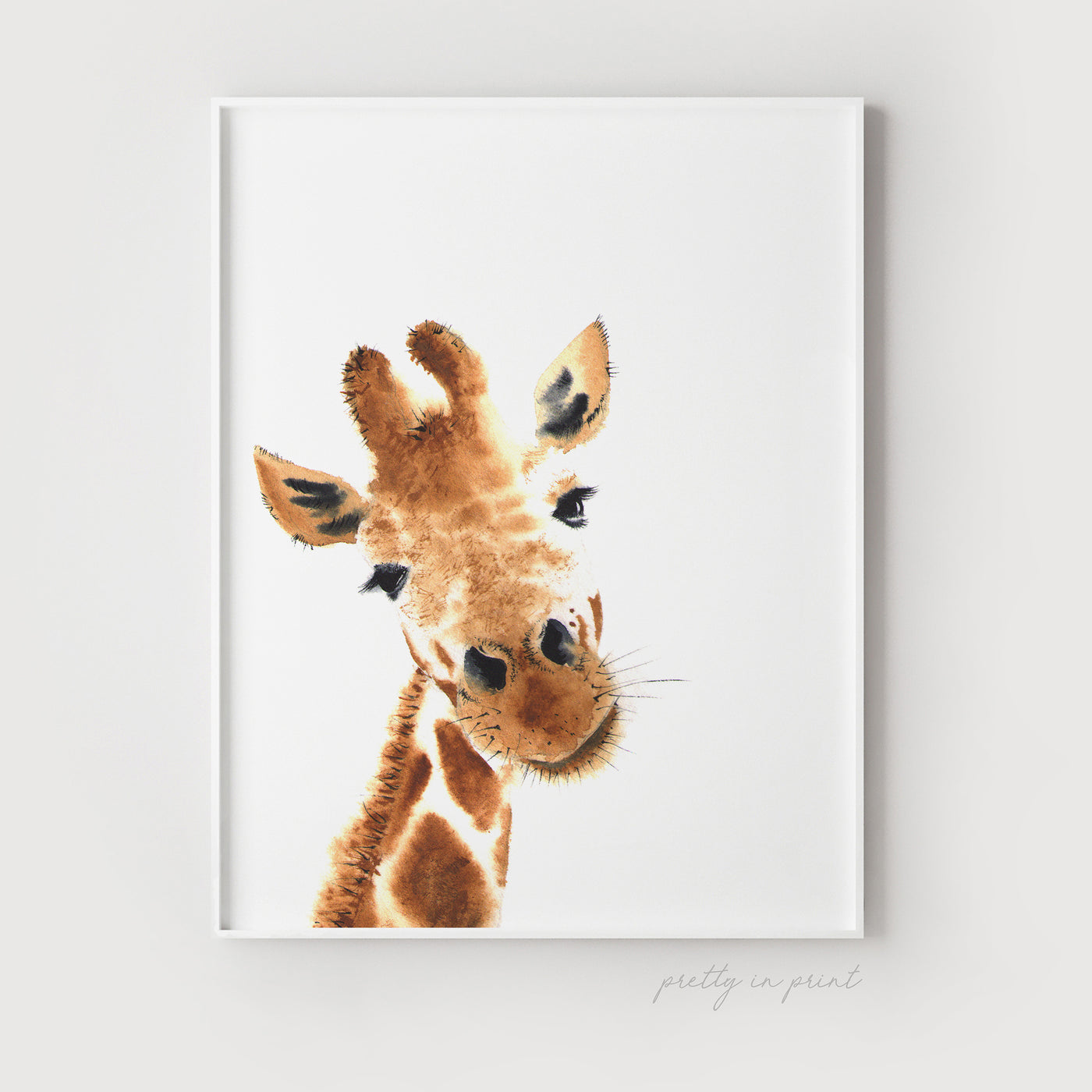 Hello Little One Giraffe Print - Peekaboo!