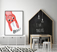 Monster Wall Art - Boo! (One Print Only) - Pretty in Print Art