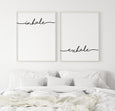 Inhale, Exhale Quote Print | Set of Two - Pretty in Print Art