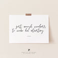 Atticus Quote | Just enough madness to make her interesting | Typography | Bedroom Wall Art