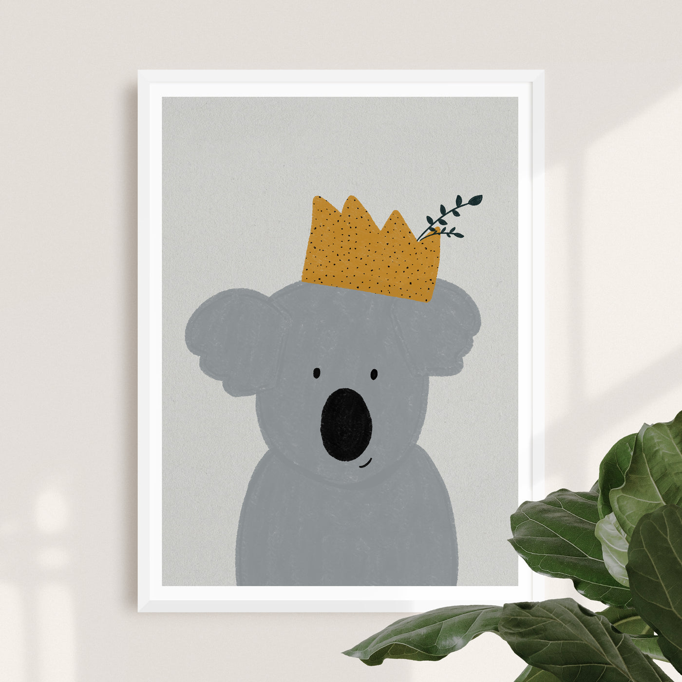 King Koala | Cute Koala Nursery Poster