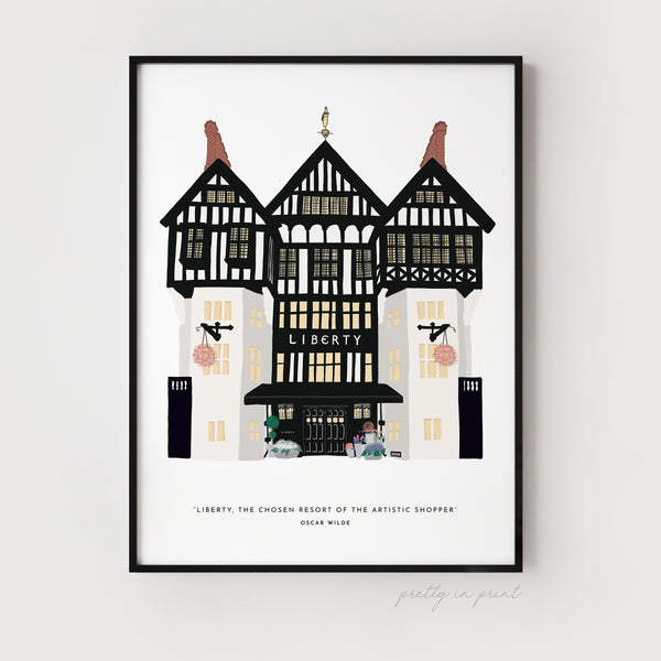 Oscar Wilde Quote | Liberty of London Illustration - Pretty in Print Art