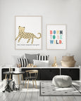 "Little Leopard Print | Cute Nursery Leopard Poster ""The Little Leopard Said Grrrr!"""