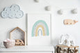 Over the Rainbow Print | Rainbow Nursery Decor (Mint Green Colour)