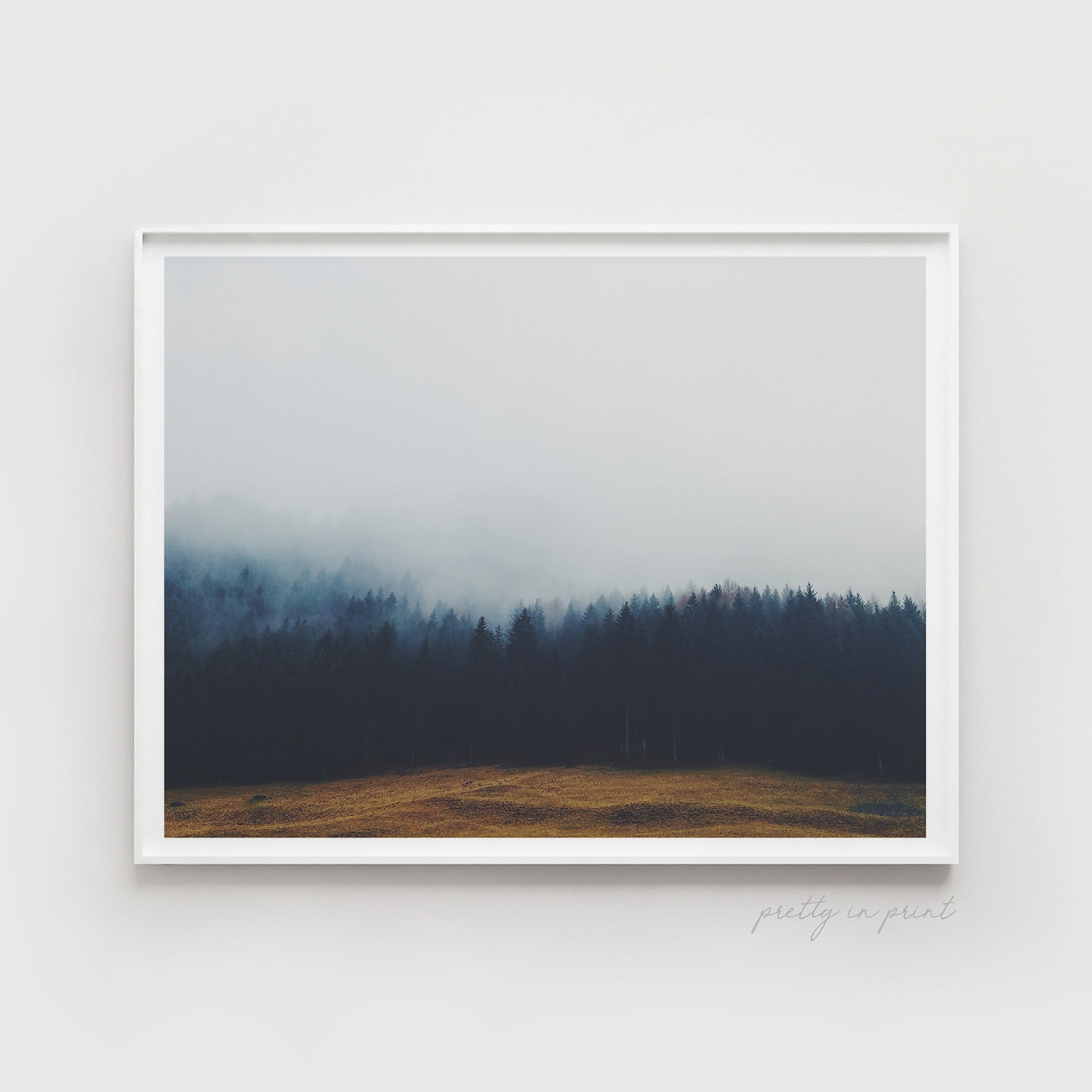 Misty Forest | Foggy Art | Landscape - Pretty in Print Art