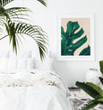 Monstera Art | Tropical Leaf Print | Acrylic Painting - Pretty in Print Art
