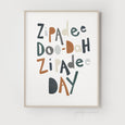 Zipadee Doo-Dah Zipadee Day Quote | Nursery Art | Navy-Brown - Pretty in Print Art
