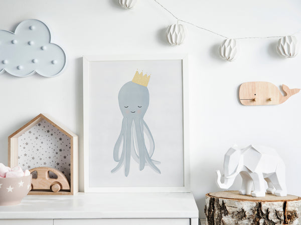 Octopus Nursery Art | Under The Sea Nursery Decor | Ocean Decor Theme