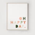 Oh Happy Day Quote | Nursery Art | Blush Pink & Green