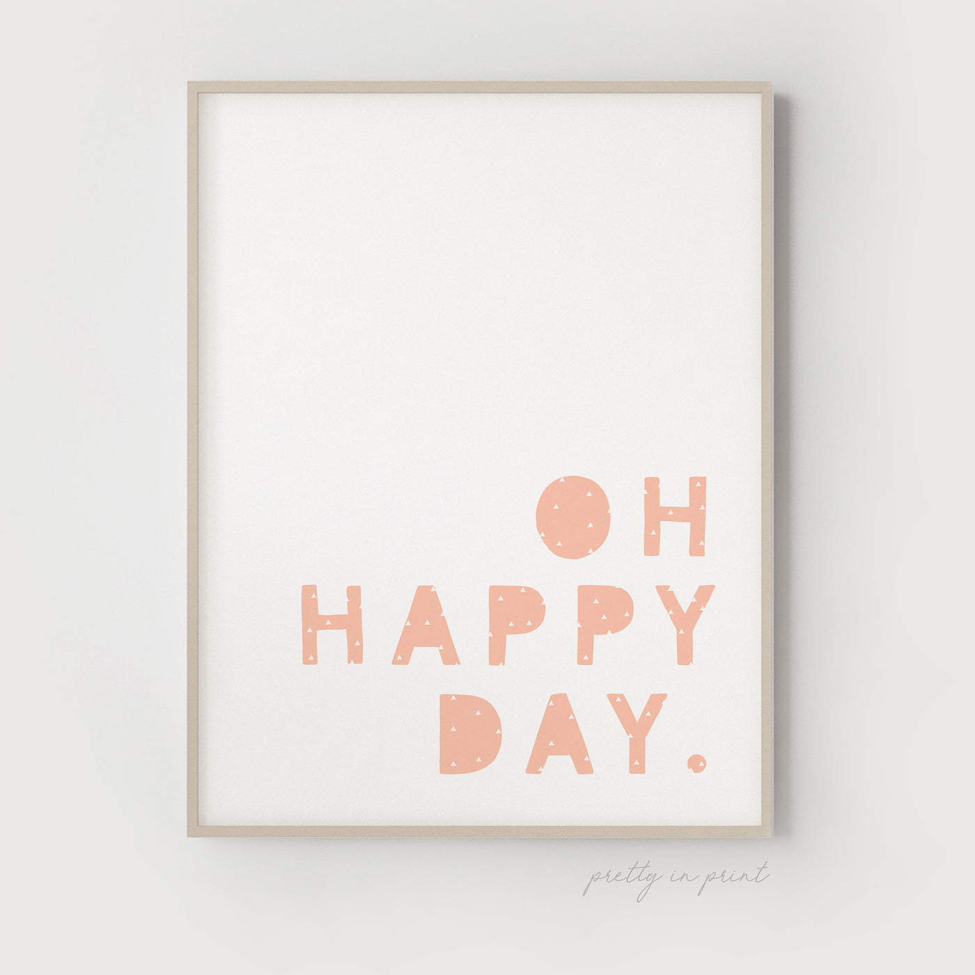Oh Happy Day Quote | Nursery Art | Pink Cactus