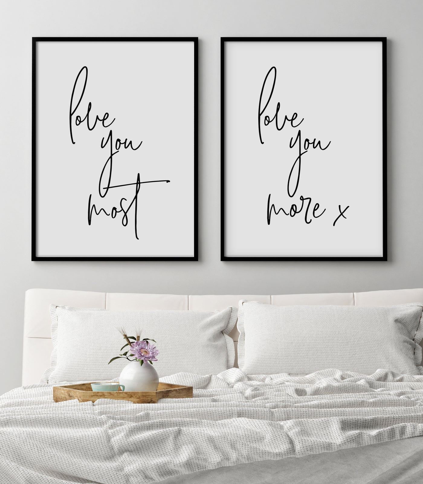 Love you Print | Love Quote | Set of Two - Pretty in Print Art