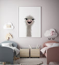 Ostrich Nursery Art | Funny Ostrich - Pretty in Print Art