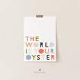 The World is your Oyster Nursery Print | Under the Sea Themed Room
