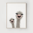 Ostrich Nursery Art | Funny Ostrich | DOUBLE Portrait Orientation